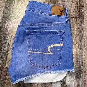 American eagle blue jean shorts